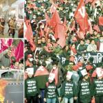 ネパール議会解散後の首都での市民の抗議