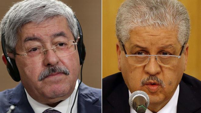 アルジェリアの裁判所が判決を下したアフメド・ウーヤヒア前首相とアブデルマレク・セラールのファイル写真