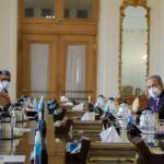 イランの外務大臣、モハンマドジャバドザリフとIAEA事務局長のラファエルグロッシ