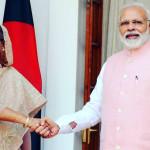 インドのナレンドラ・モディ首相とそのカウンターパートであるハシナ・ワジッド