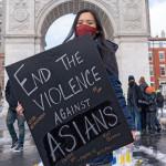 ニューヨークのユニオンスクエアでの抗議