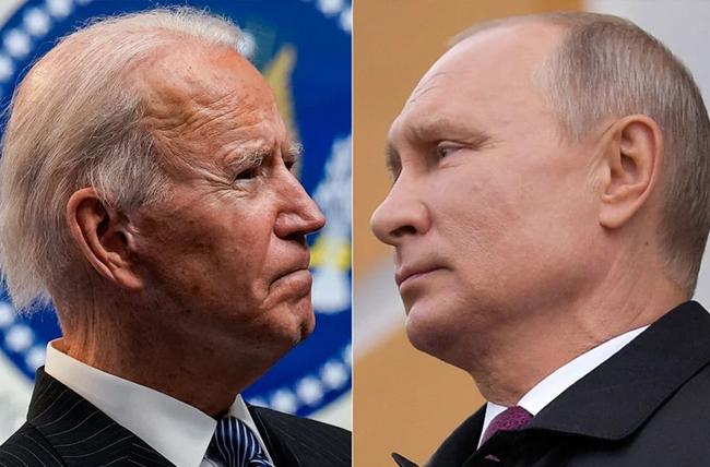ロシアのプーチン大統領と米国のジョー・バイデン大統領、ファイル写真